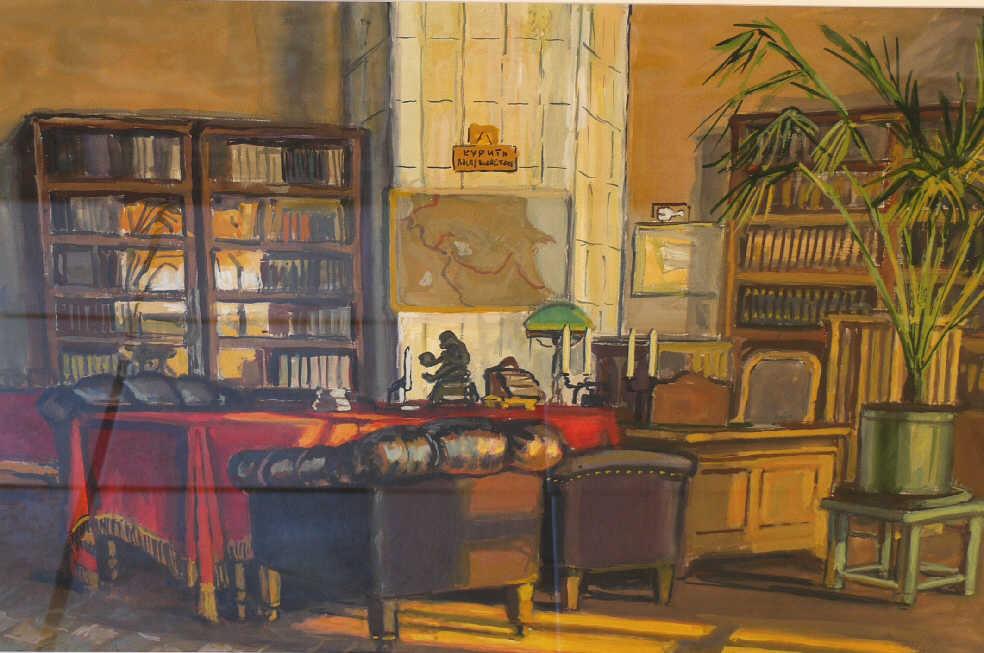 """Alexander Platonovich Tsesevich. """"Lenin's study"""""""