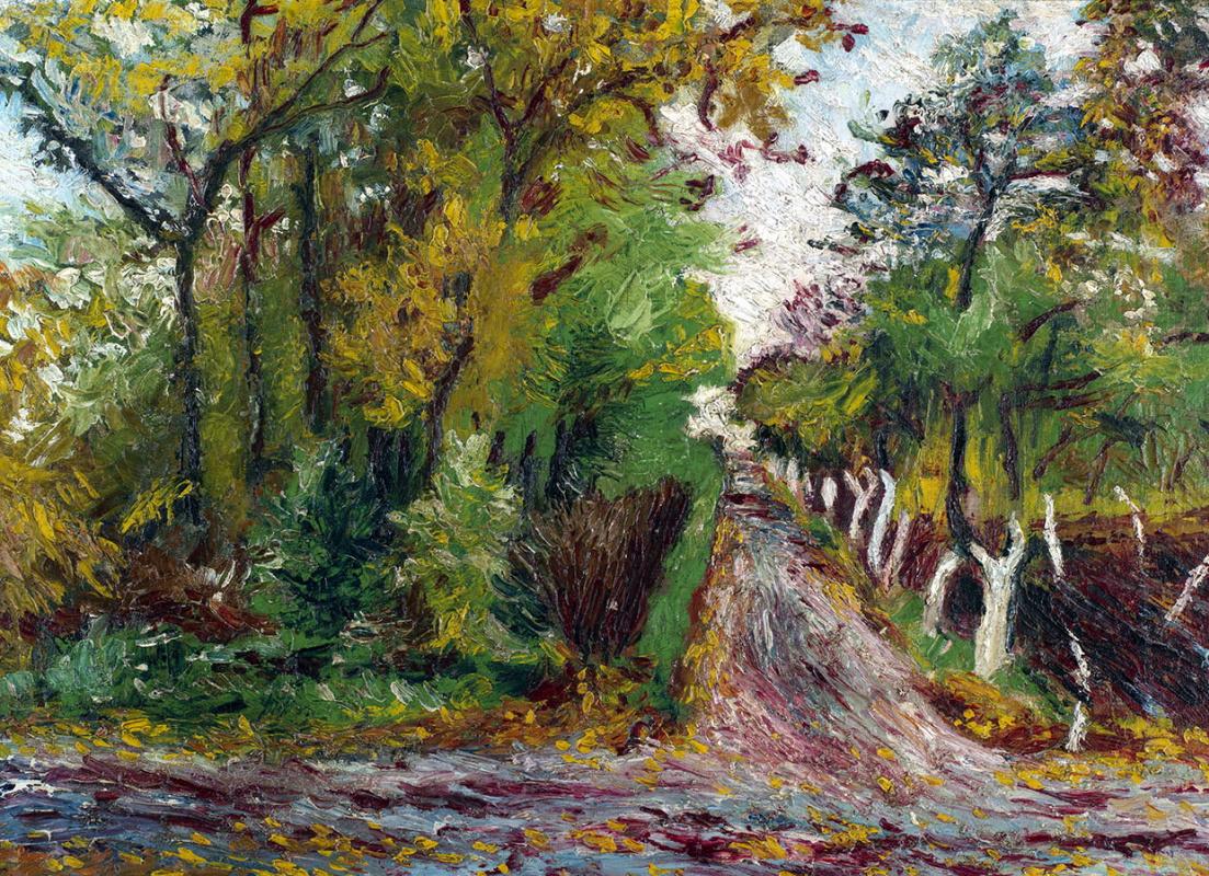 Давид Давидович Бурлюк. Дорога в лесу