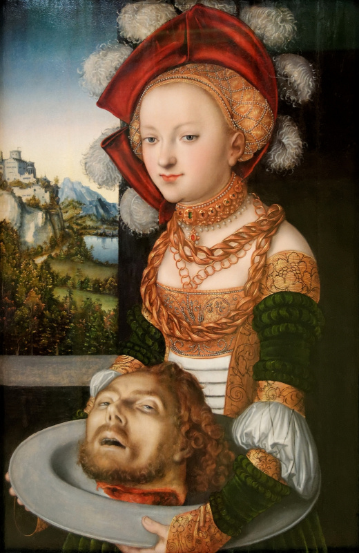 Lucas Cranach the Elder. Salome with the head of John the Baptist