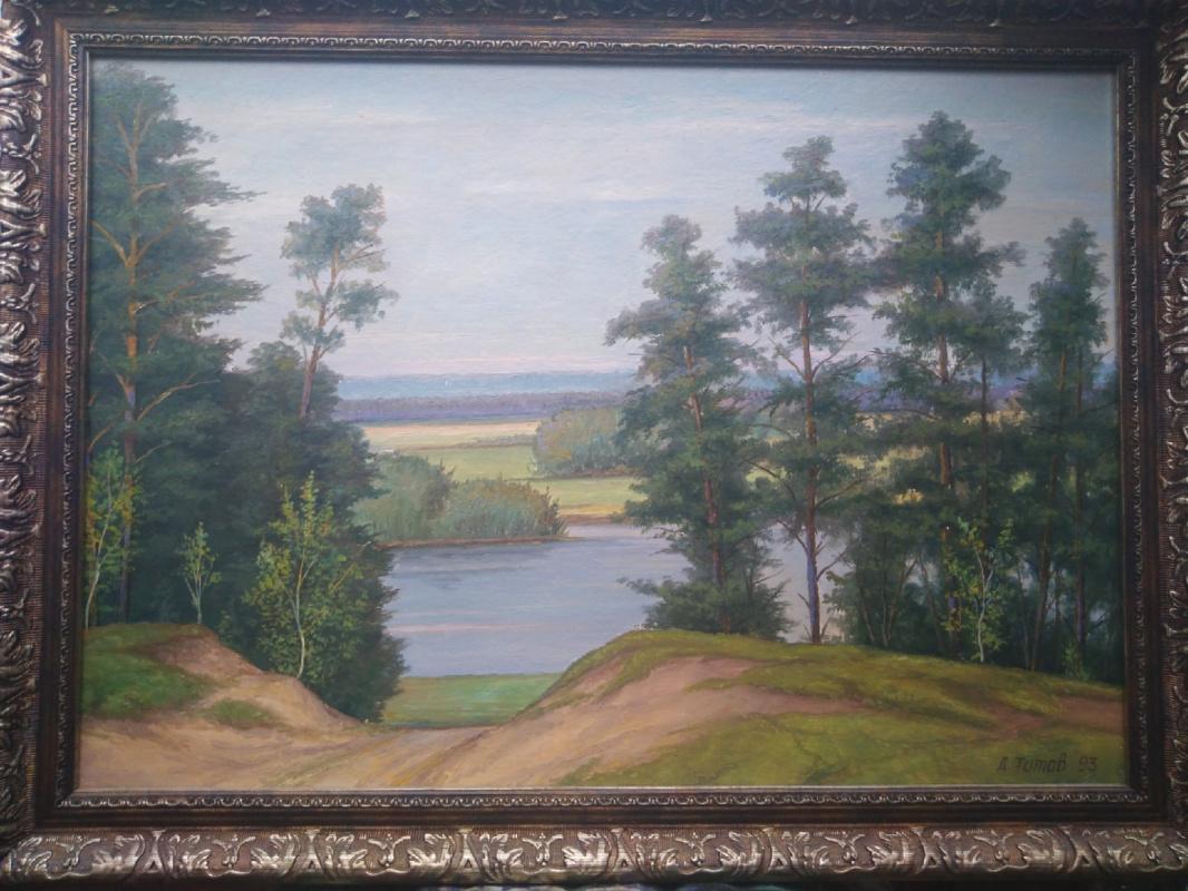 Dmitry Vasilyevich Titov. Pines by the river