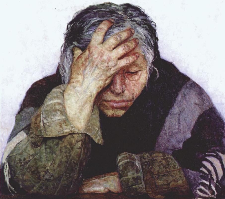 """Гелий Михайлович Коржев. Мать. Из серии """"Опаленные огнем войны"""""""