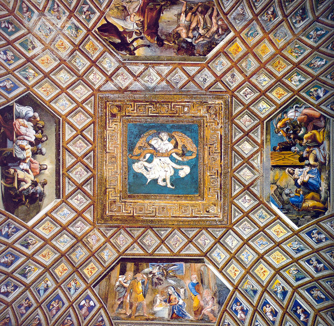 Raphael Sanzio. Scenes from the life of Christ. The painting of the ceiling of the Raphael loggias of the Palace of the Pope in the Vatican