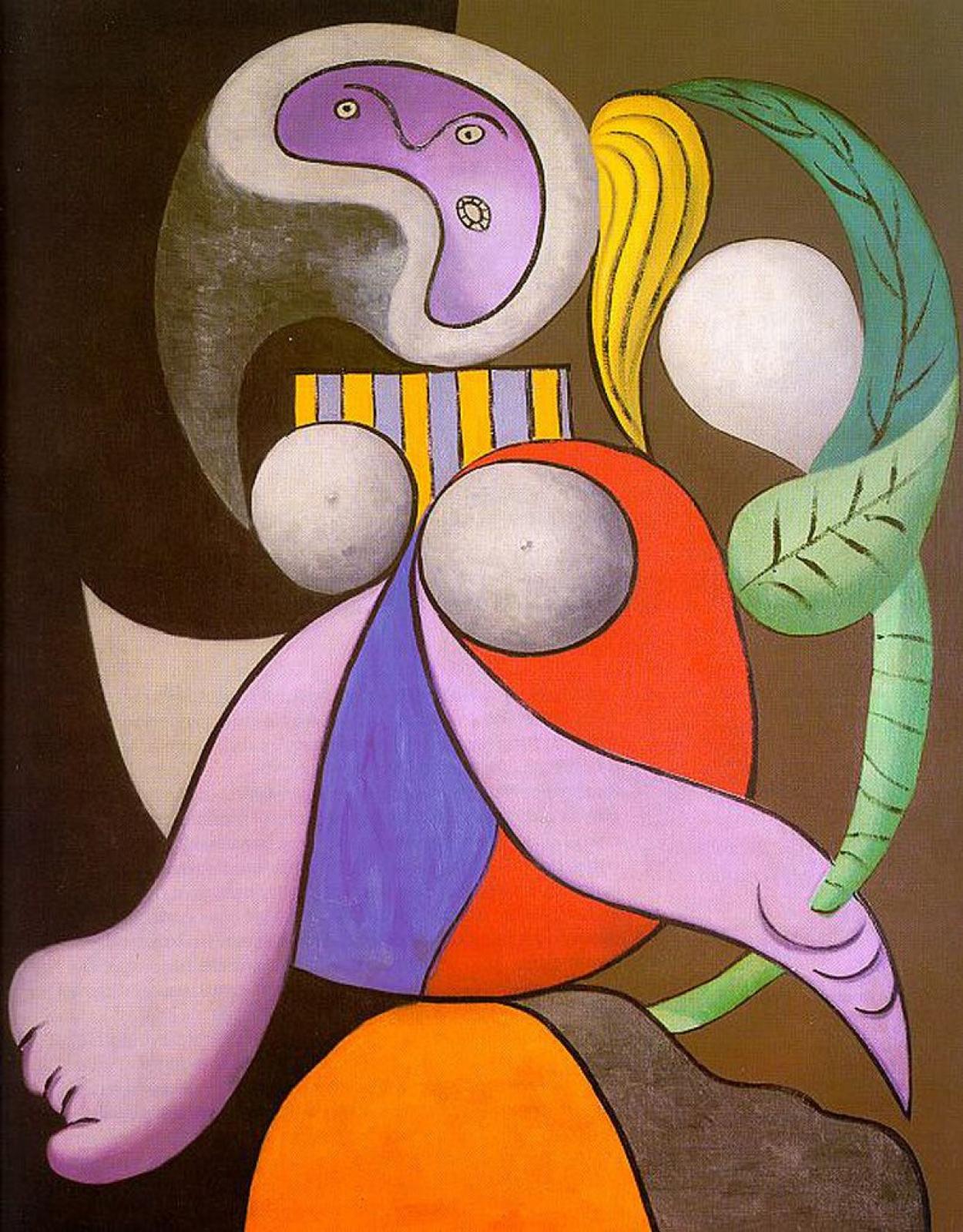 Пабло Пикассо. Женщина с цветами