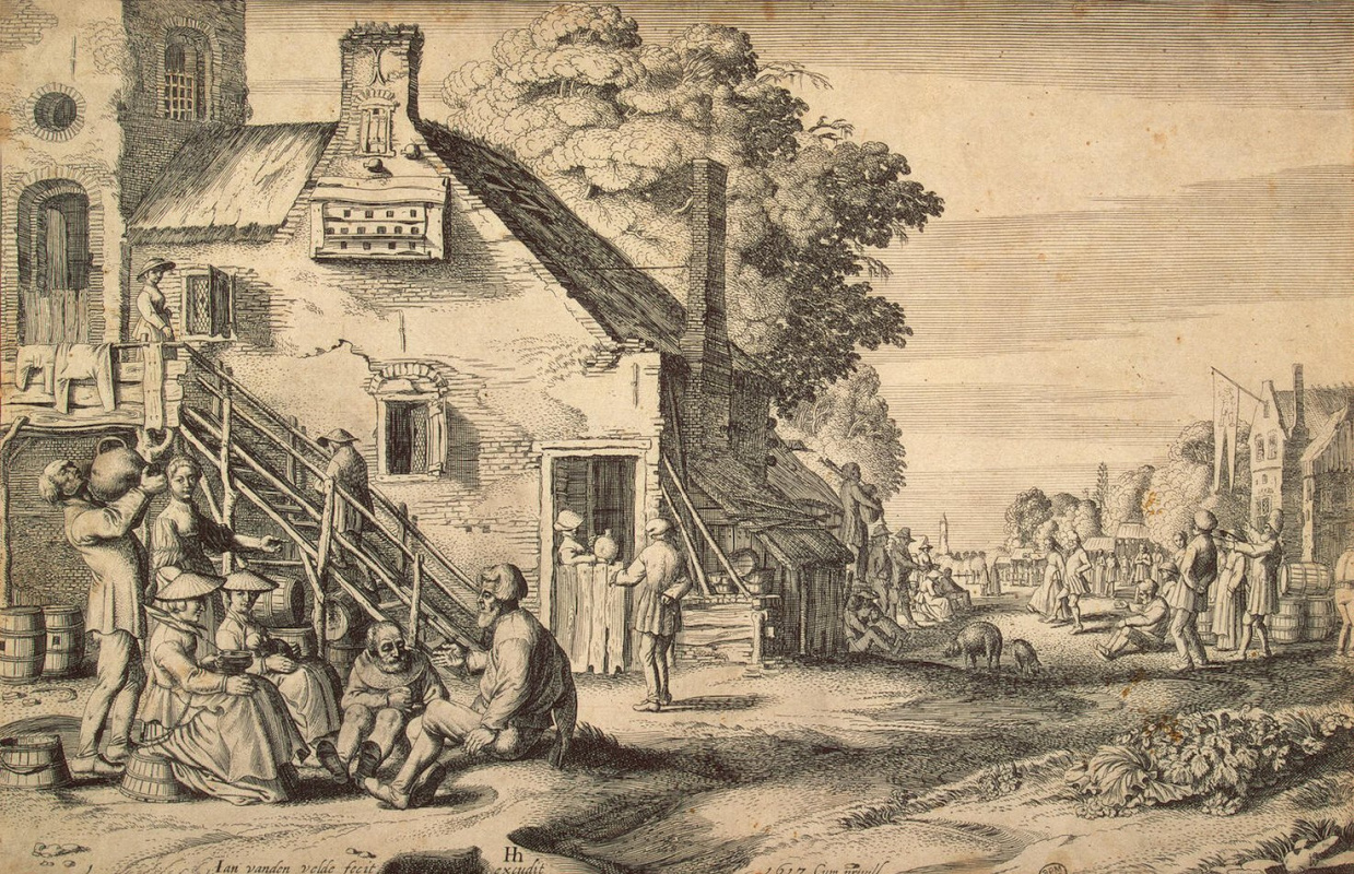 Ян ван де Велде. Деревенская улица