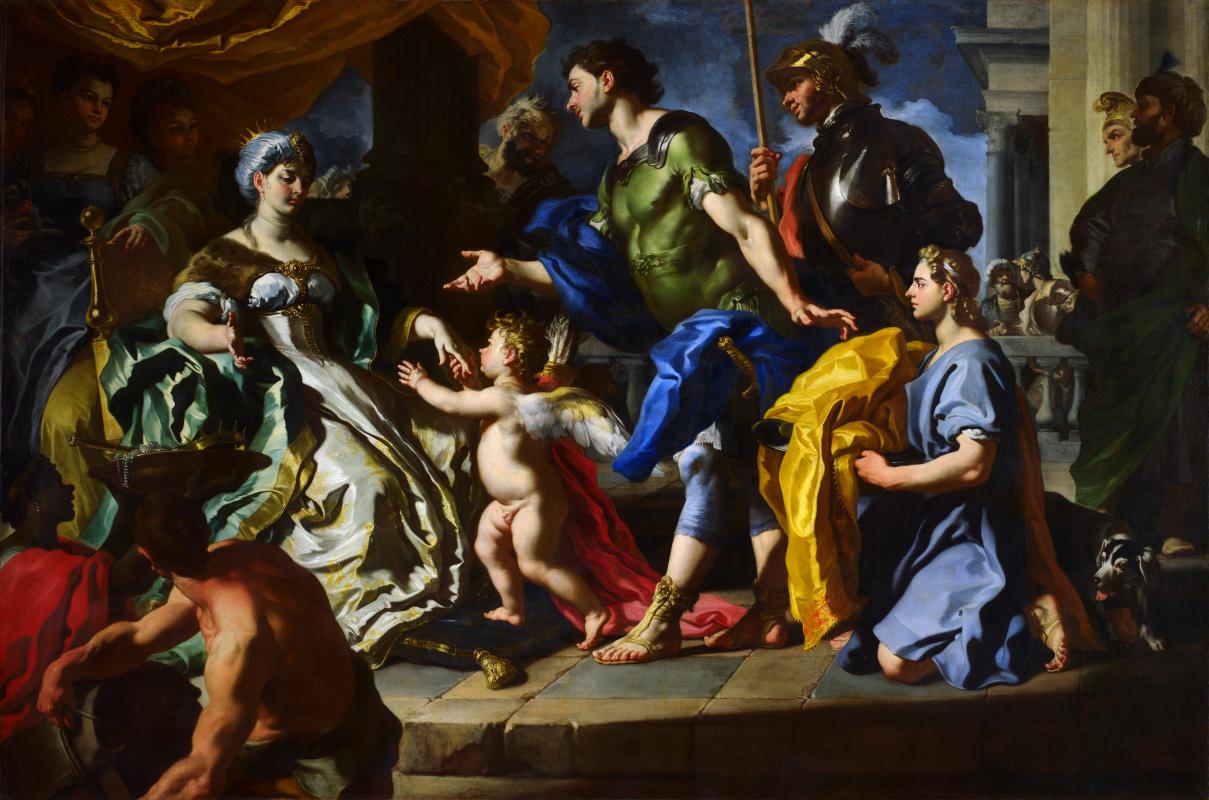 Франческо Солимена. Замаскированный под Асканию