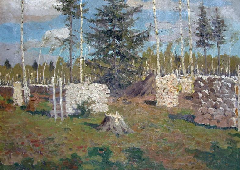 Stanislav Yulianovich Zhukovsky. Landscape with wood