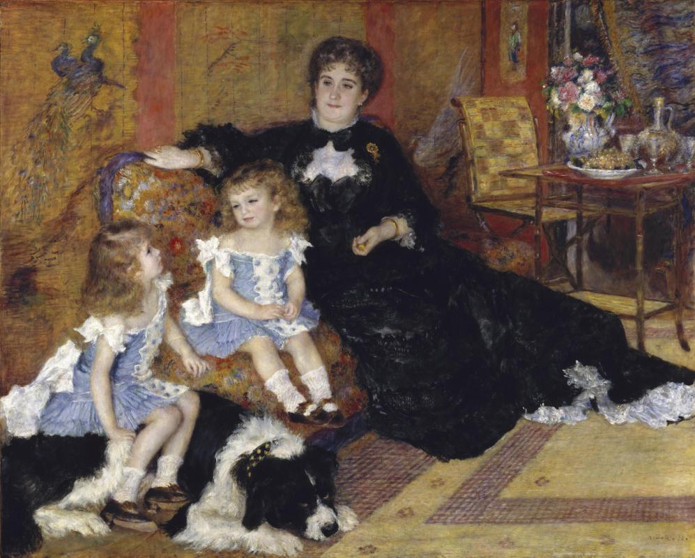 Pierre-Auguste Renoir. Madame Charpentier with children