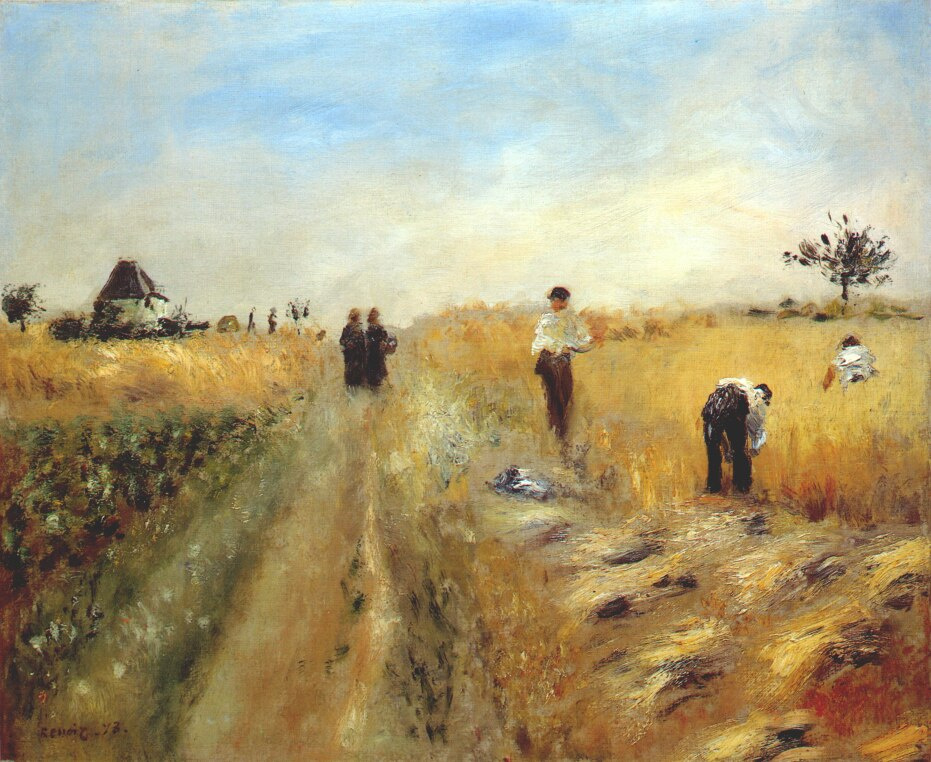 Pierre-Auguste Renoir. The reapers