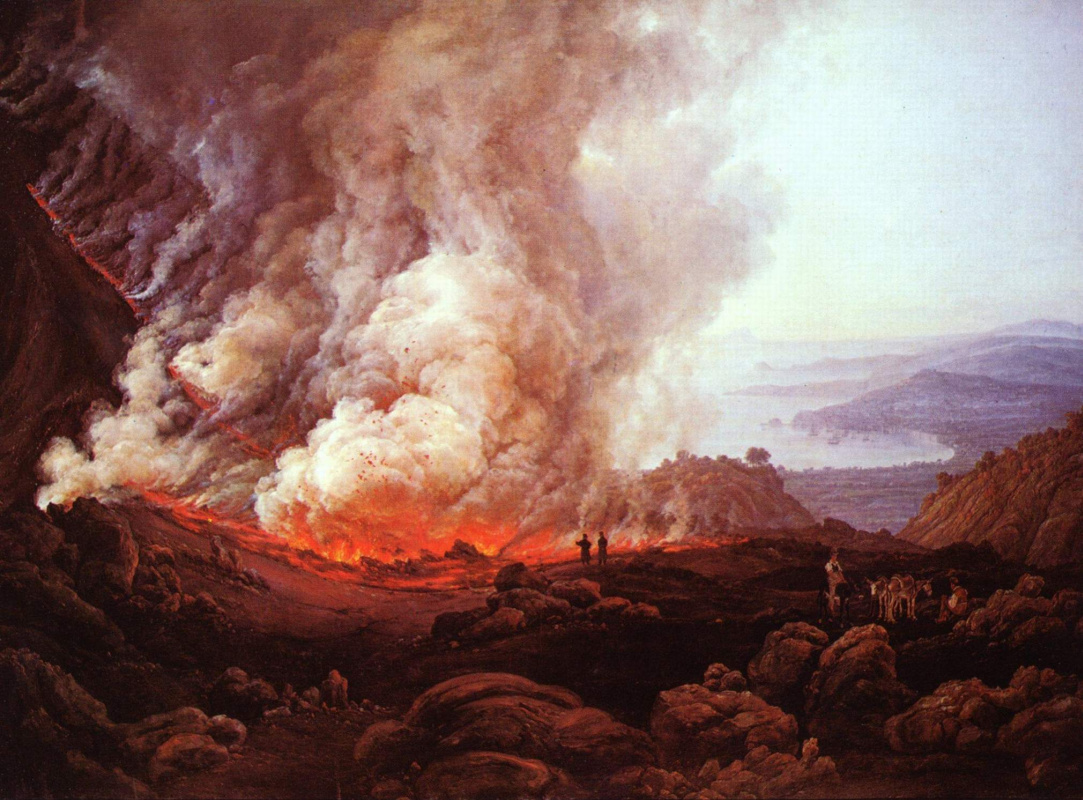 Иоган Кристиан Клаусен Даль. Извержение Везувия