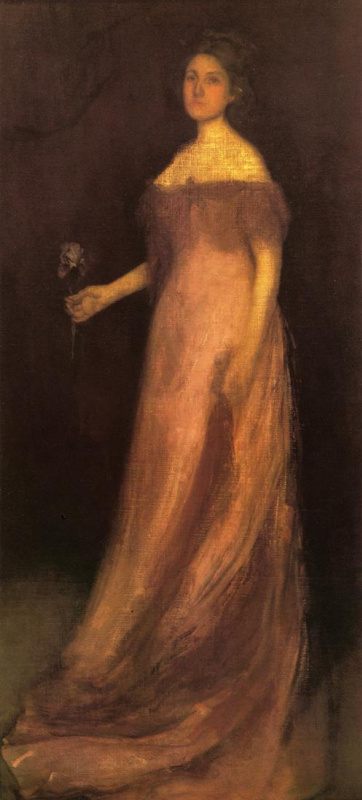 James Abbot McNeill Whistler. Pink and green: the iris - Portrait of miss Kinsella