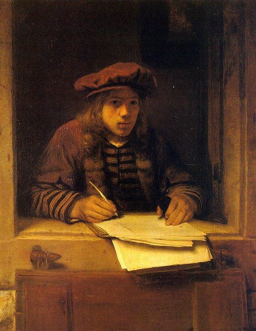 Самюэл ван Хогстратен. Письмо