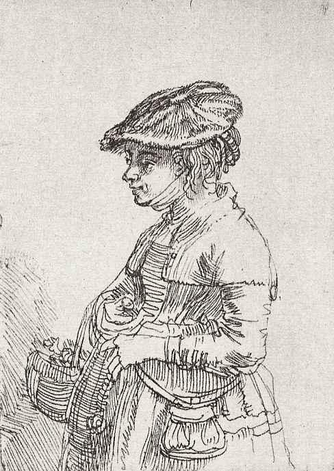 Рембрандт Ван Рейн. Девушка с корзинкой