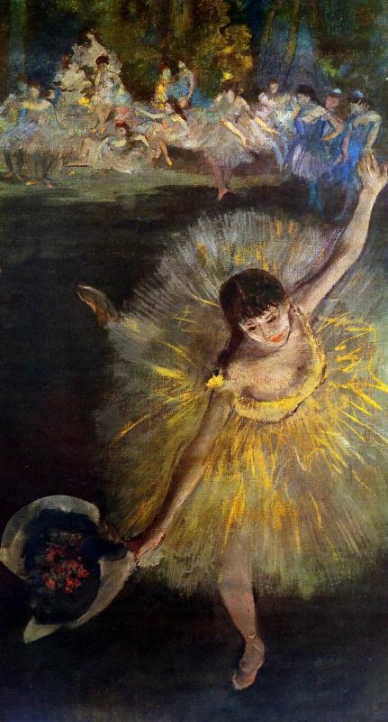 Edgar Degas. Dancer bowing