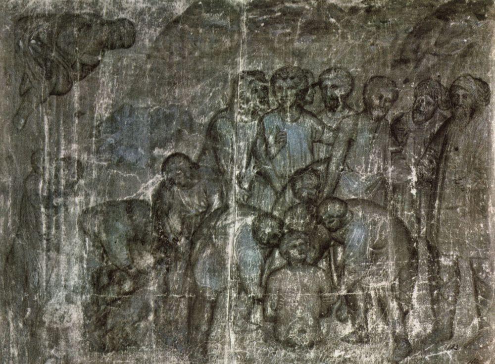 Джусто ди Менабуи. Братья опускают Иосифа в колодец