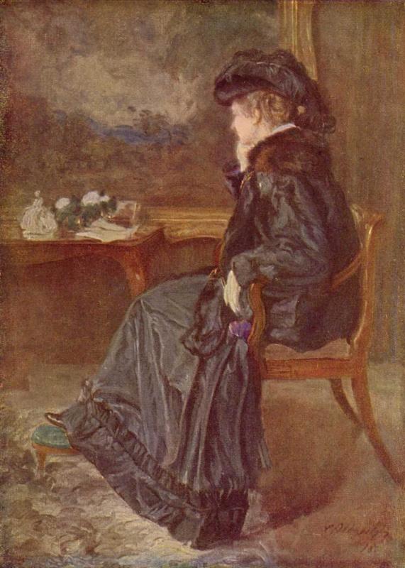 Карл Альбрехт. Портрет Анны-Элизабет Агнес, супруги художника