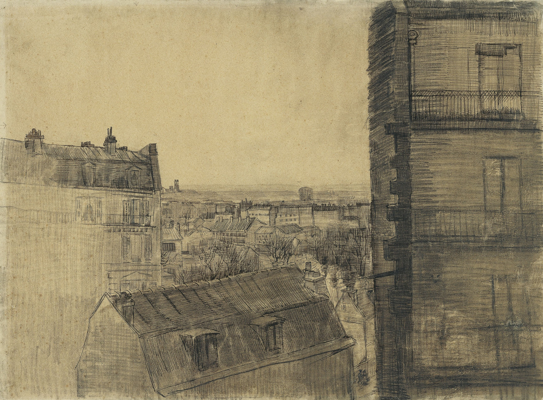 Vincent van Gogh. The view from the apartment on Rue Lepic