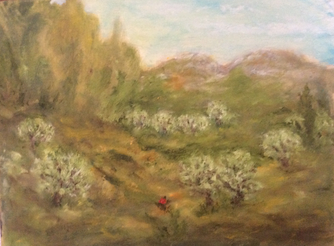 Rita Arkadievna Beckman. Olive grove in the mountains of Galilee