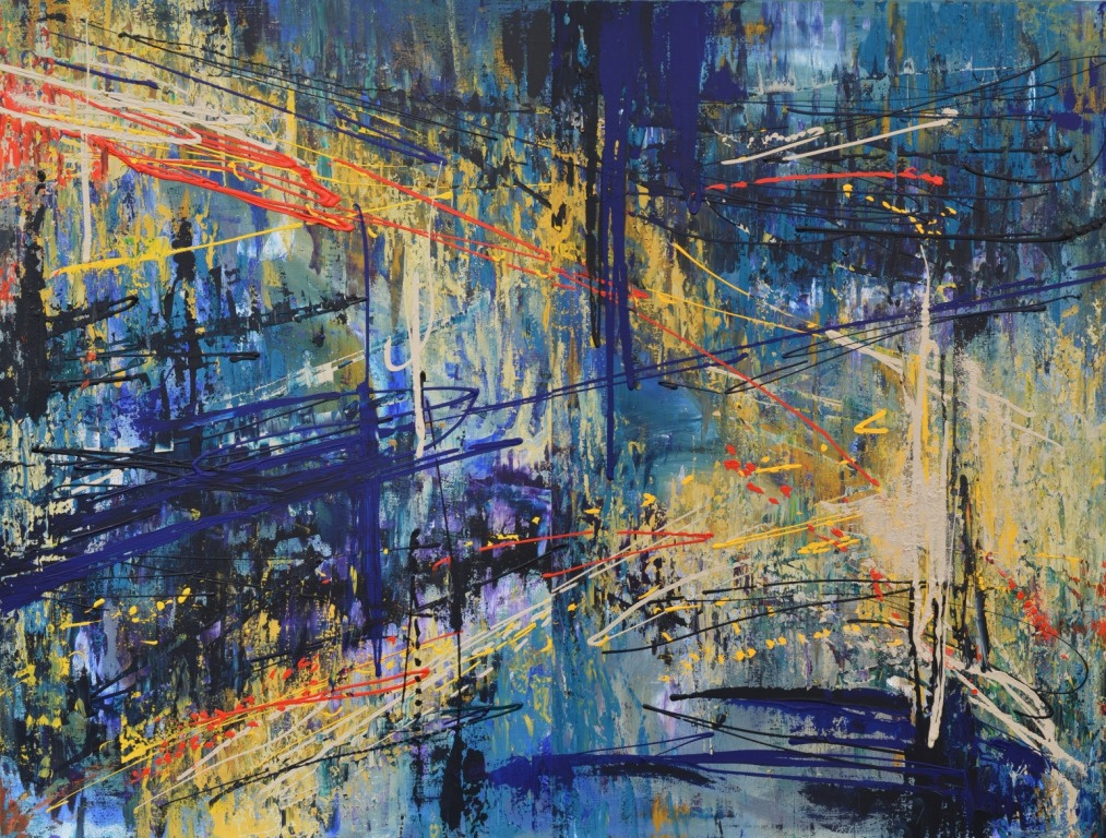 "Tanya Vasilenko. ""The way"". Diptych. Acrylic on canvas. Path. Diptych, both parts. Acrylic on canvas."