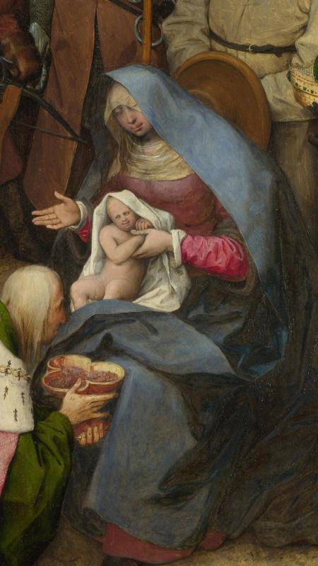 Питер Брейгель Старший. Поклонение волхвов. Фрагмент 3. Мария с младенцем