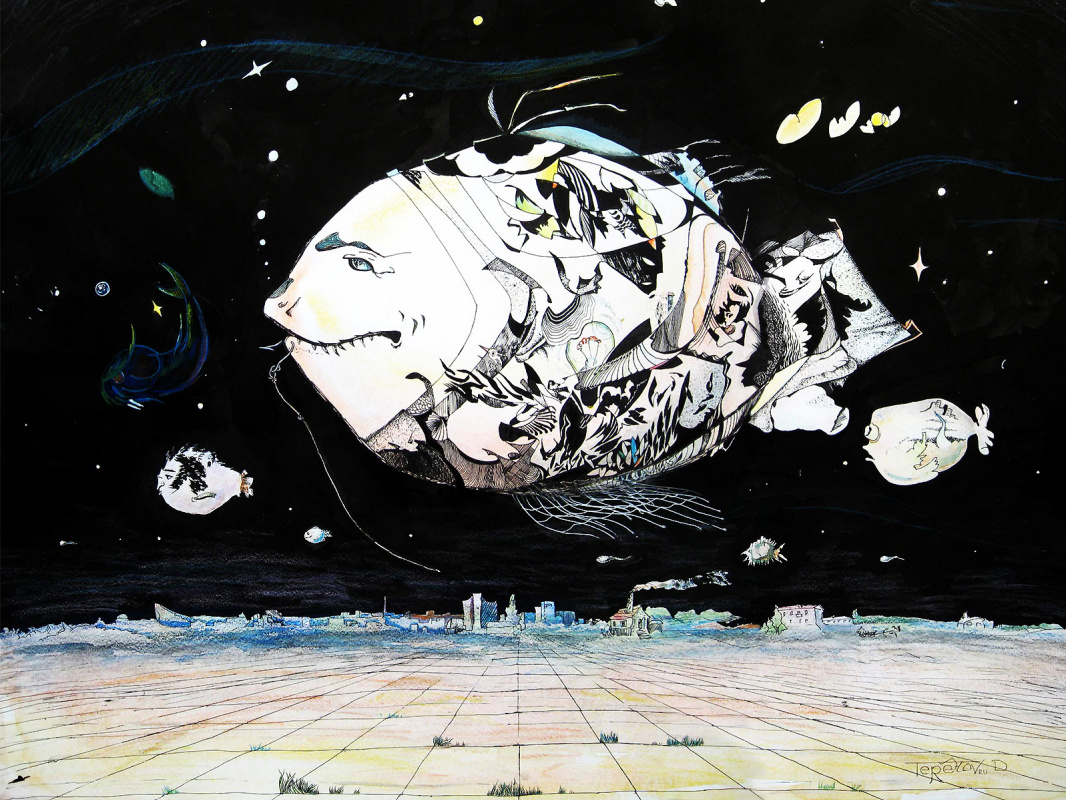 Dmitry Terekhov. Surrealism. Flying fish.
