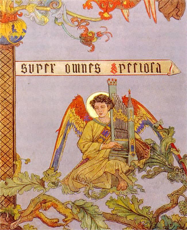 Ян Матейко. Ангел на ветке. Эскиз росписи церкви Святой Марии