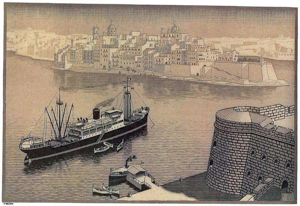 Maurits Cornelis Escher. Sengela, Malta