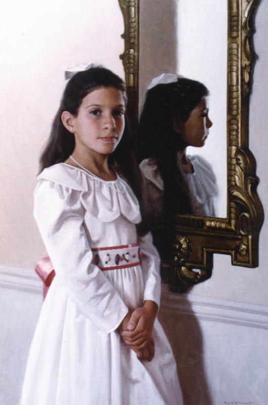 Пол Маккормак. Отражение девочки в зеркале