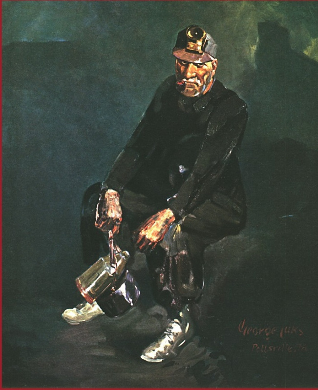 Джордж Люкс. Сидящий мужчина