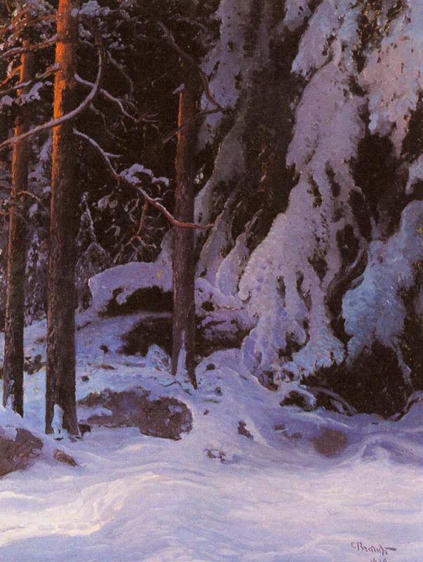 Карл Брандт. Заснеженные леса