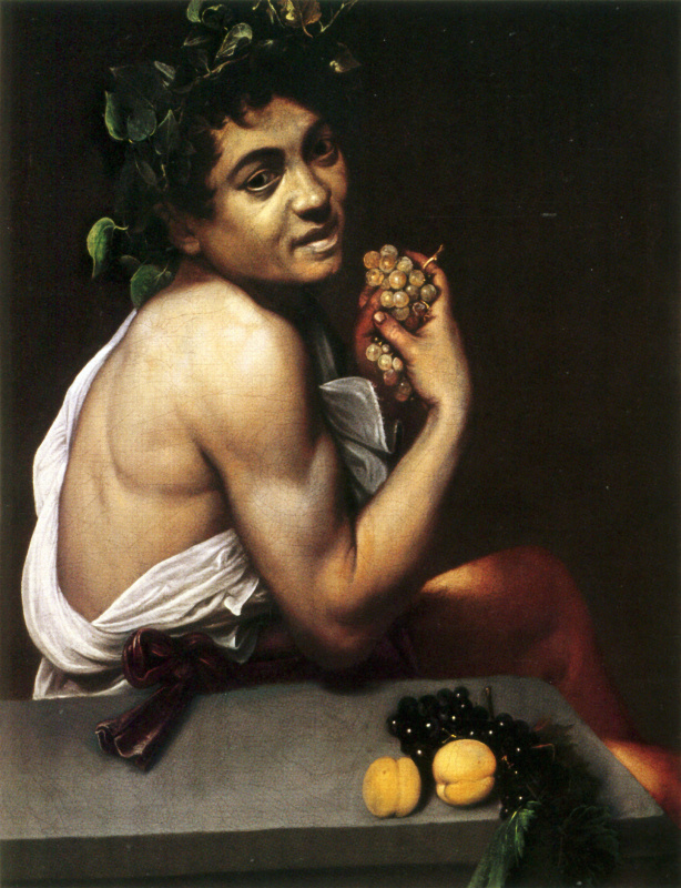 Michelangelo Merisi de Caravaggio. Sick Bacchus (self-Portrait in mirror)