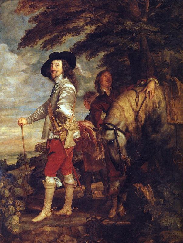 Антонис ван Дейк. Карл 1 король Англии на охоте
