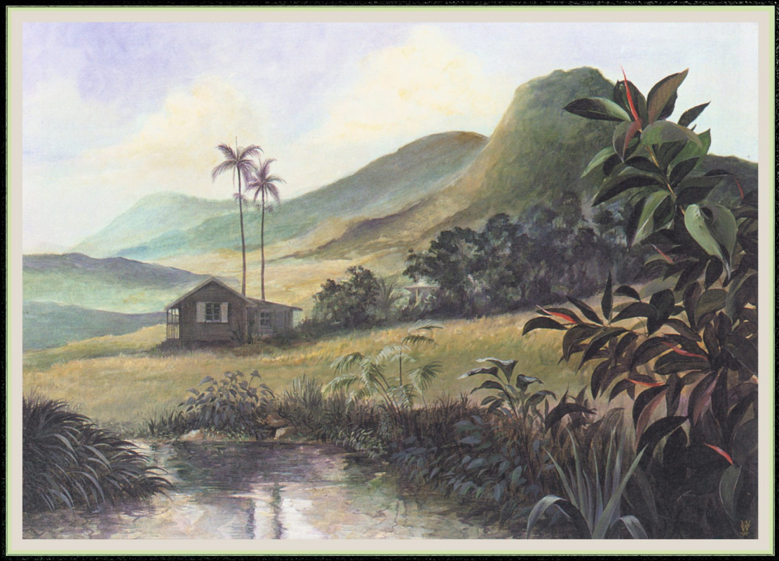 Уильям Вуд. Пейзаж с домом в холмах