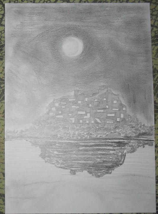 Василий Береговой. Луна над городом.