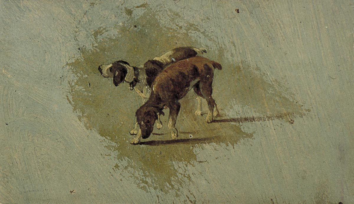 Theo van Dusburg. Two dogs