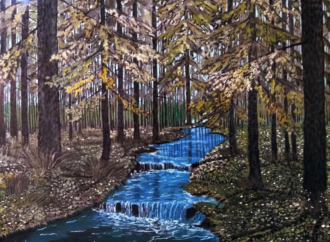 Vladimir Ropot. Forest stream