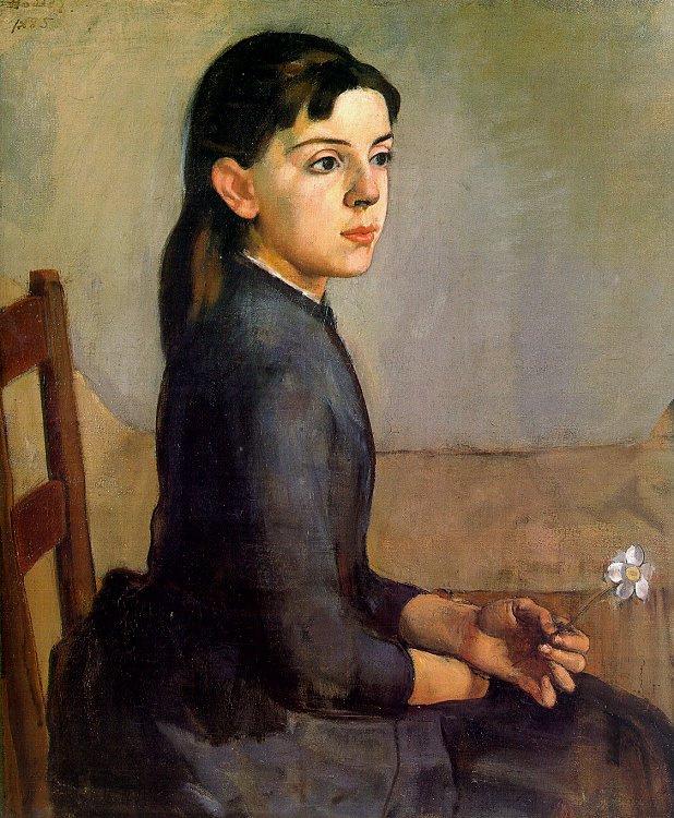Ходлер. Девочка с цветком