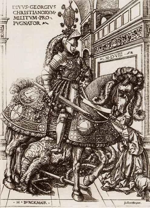 Ханс Бургкмайр Старший. Святой Георгий на коне