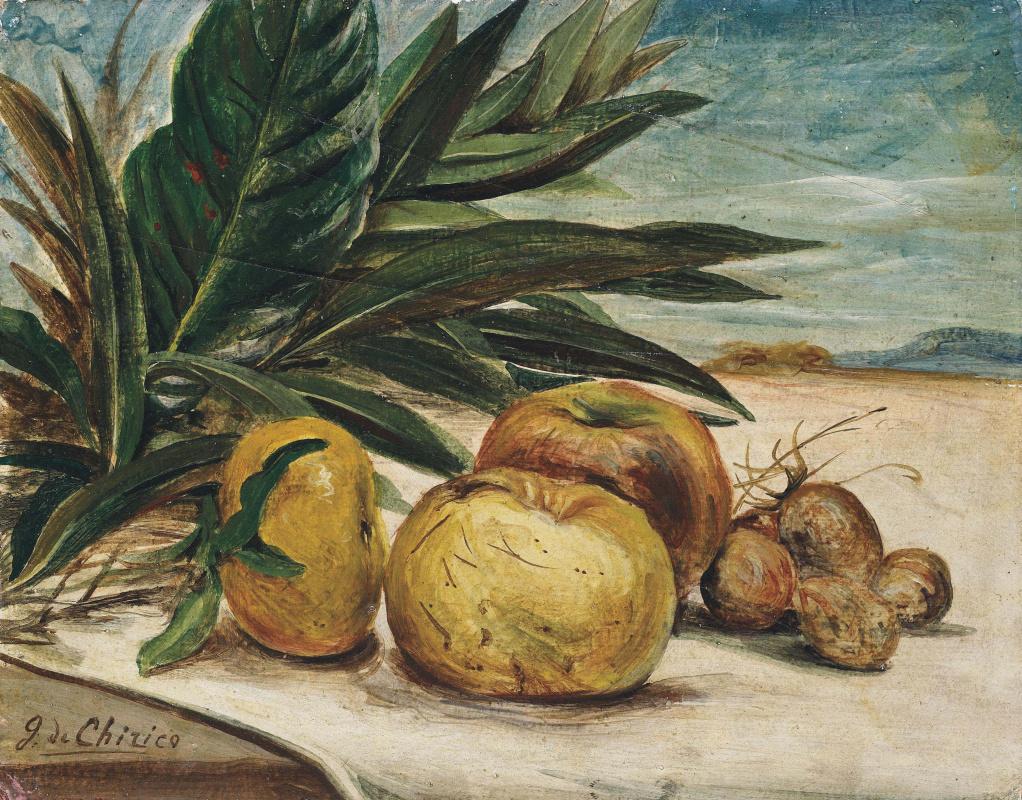 Джорджо де Кирико. Натюрморт с яблоками