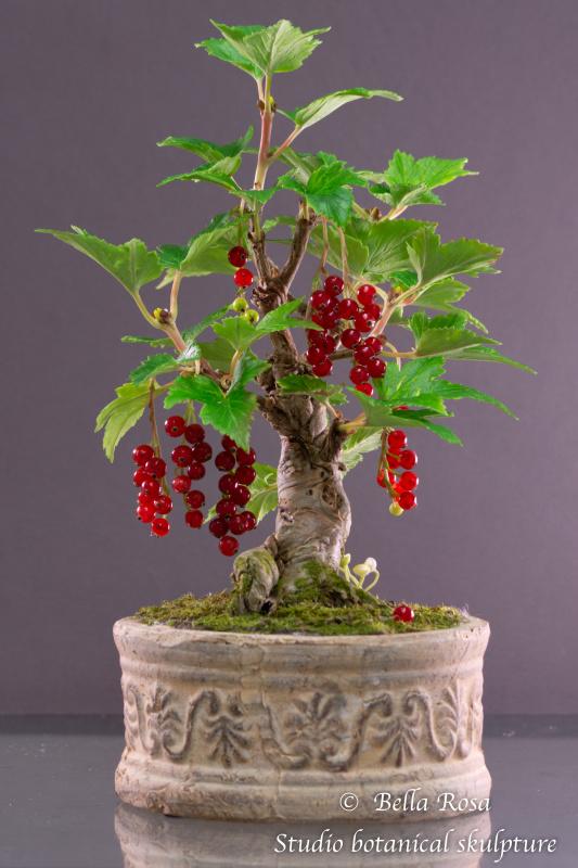 Valery Drey. Polymer clay bonsai currant.