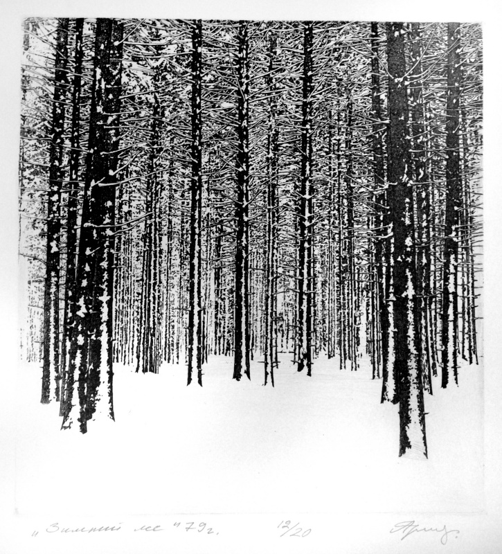 Anatoly Ivanovich Yaroslavtsev. Winter forest