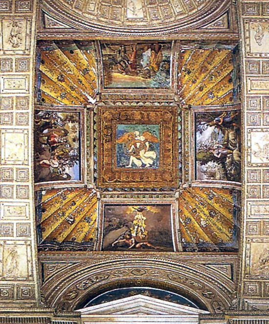 Raphael Sanzio. Scenes from the life of Jacob. The painting of the ceiling of the Raphael loggias of the Palace of the Pope in the Vatican