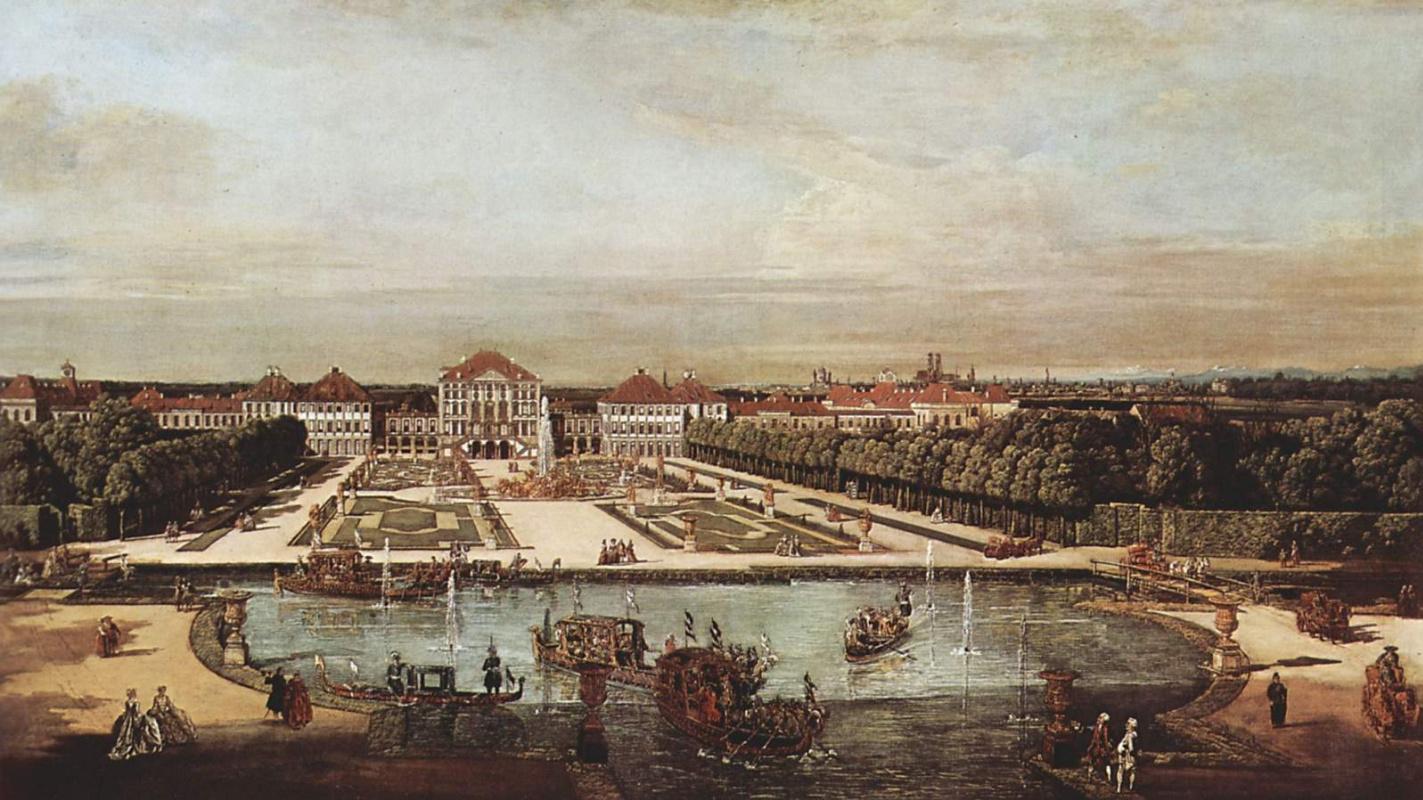 Джованни Антонио Каналь (Каналетто). Западный вид на дворец Нимфенбург в Мюнхене