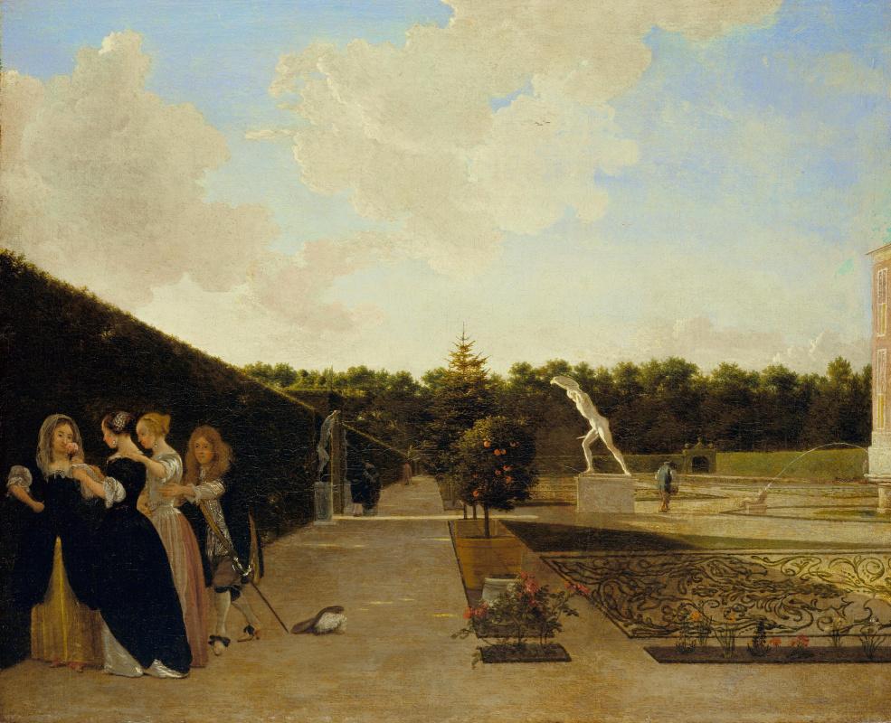 Людольф  де Йонг. Три дамы, застигнутые врасплох кавалером