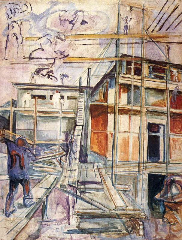 Edvard Munch. Building the winter Studio. Ackley