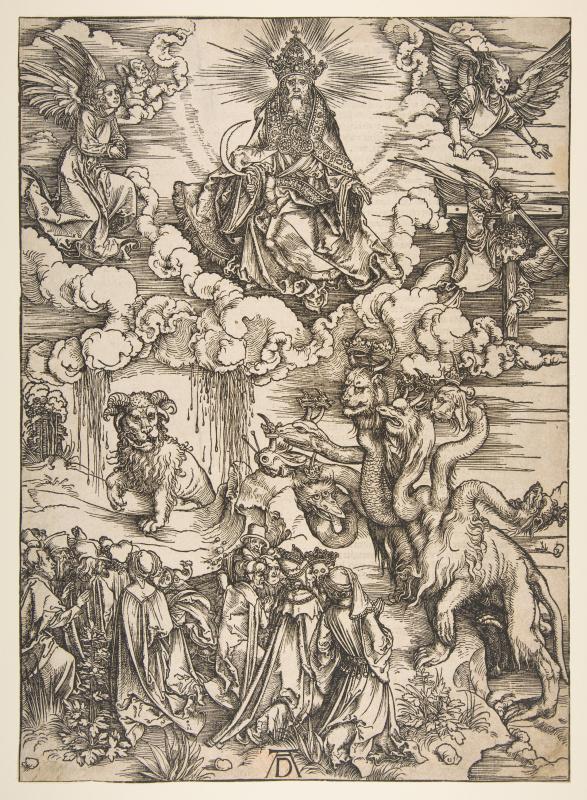 Albrecht Dürer. The seven-headed dragon and the horned beast