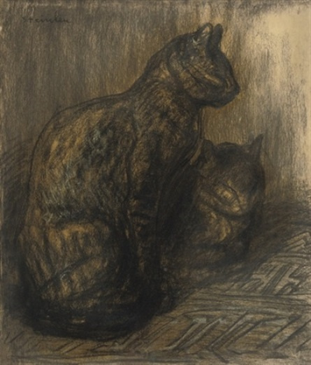 Theophile-Alexander Steinlen. A couple of cats