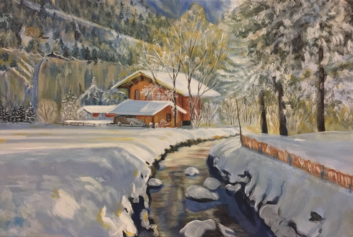 Lyudmila Nikolaevna Yevtushenko. Winter in Switzerland