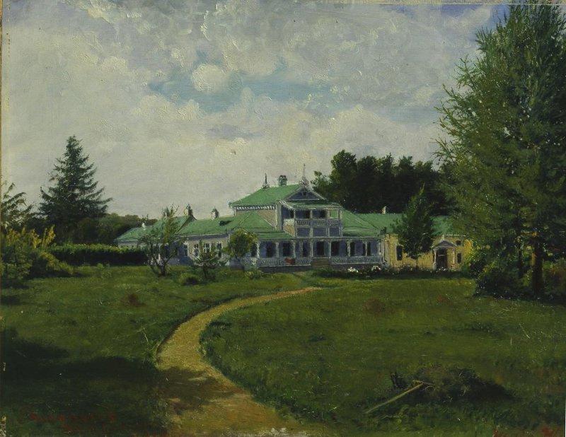 Yakov Petrovich Polonsky. Spasskoye-Lutovinovo. Manor house of I. S. Turgenev