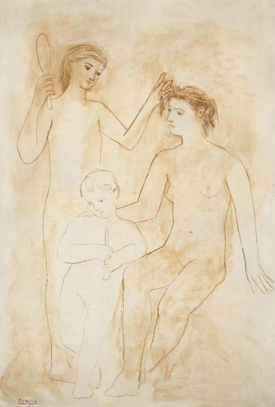 Пабло Пикассо. Две женщины и ребенок