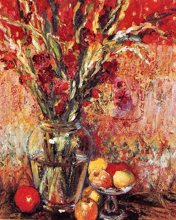 Линда Шнайдер. Гладиолусы и яблоки